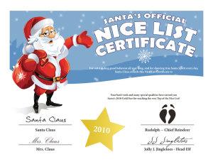 Nice list-certificate